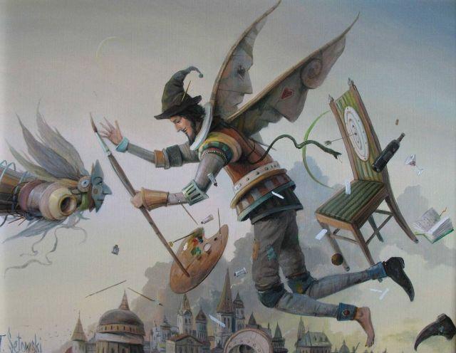 ArtGalery ° PERSONALART.PL tytuł: Głową w chmurach/With head in the clouds autor: Tomasz Sętowski http://personalart.pl/Tomasz-Setowski