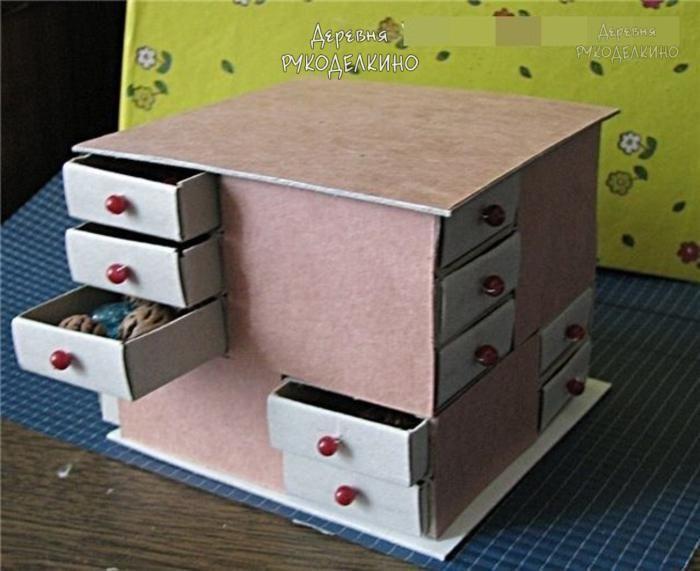 Шкатулочка для хранения всяких мелочей из спичечных коробков — Декор квартиры