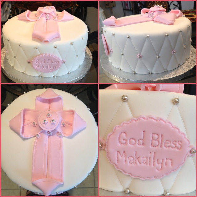 Cake Designs For Baby Dedication : A baby dedication cake my sister made. Sooo precious ...