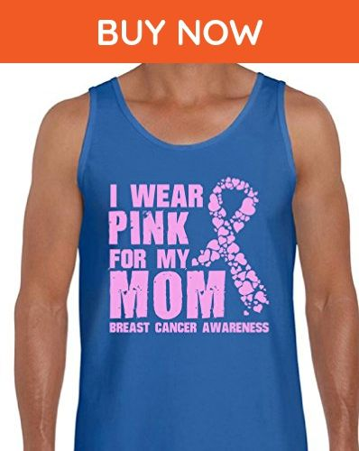 Awkward Styles Men's I Wear Pink for My Mom Tank Tops for Men Breast Cancer Awareness Blue 2XL - Relatives and family shirts (*Amazon Partner-Link)