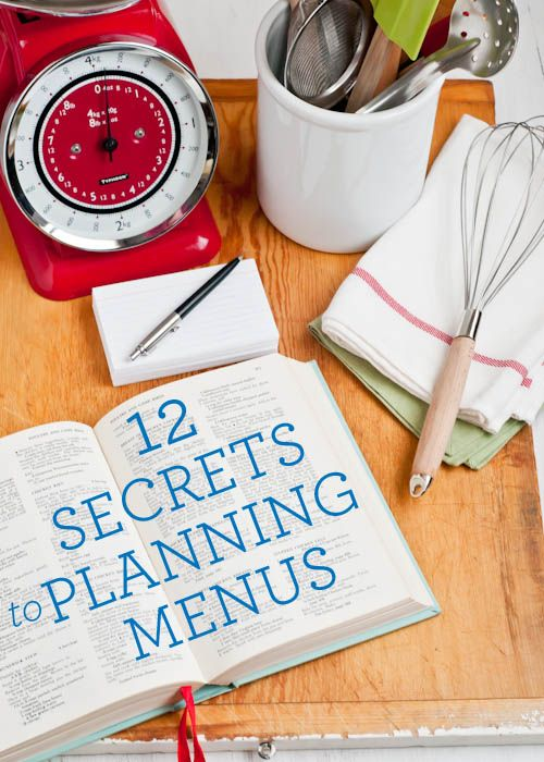 Minimize your daily grocery store runs with planning your meals ahead of time. Via Design Mom
