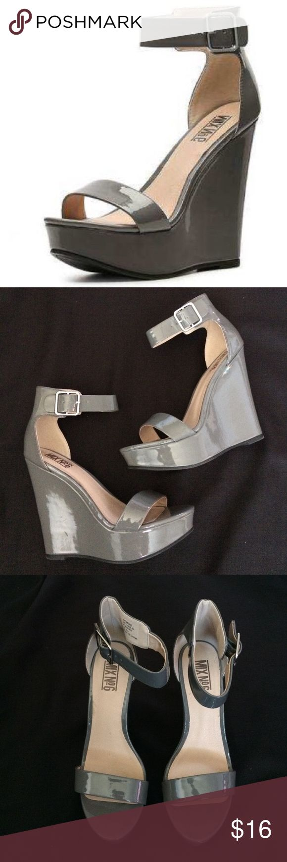 Mix No.6 gray wedges Gently used Mix No.6 Gray wedges. Size 6 1/2 women's. ❤️ Shoes