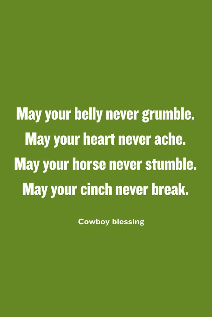 A cowboy's blessing