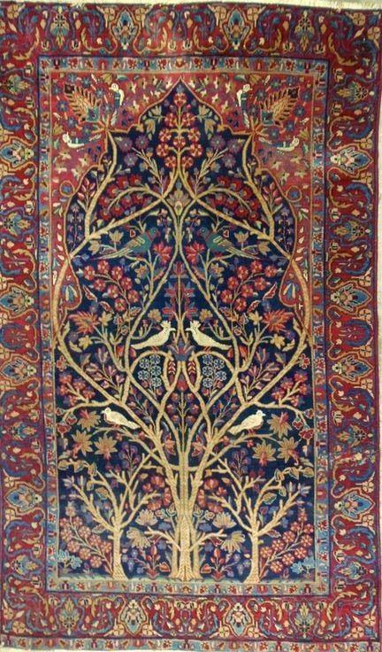 Persian Kerman Rug Textile Arts Oriental Rugs