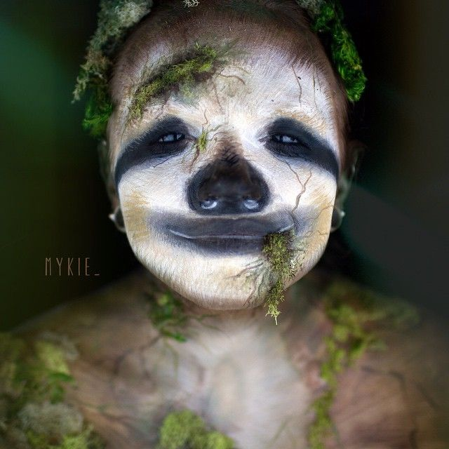 You guys are always asking for a picture of me with no makeup on, so here it is! I'm really a zombie sloth.  Honestly, it's about time I did this. I couldn't help myself after the 2,000+ sloth comments & decided I needed to turn myself into a little mutant sloth
