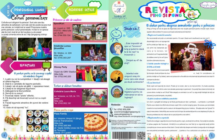 Revista Ping si Pong - no.1   Agenție organizare evenimente pentru copii în Alba Iulia, Sebeș, Blaj, Cugir