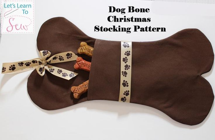 Dog Bone Christmas Stocking Sewing Pattern