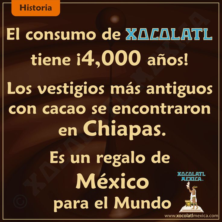 ¡El chocolate es tiene 4,000 años de historia, es un regalo de México para el Mundo!