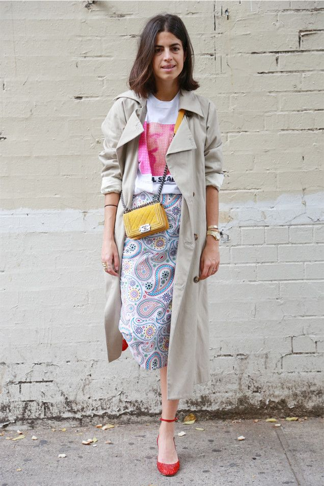 Culled from Paris: Try a Long Skirt Trench | Man Repeller