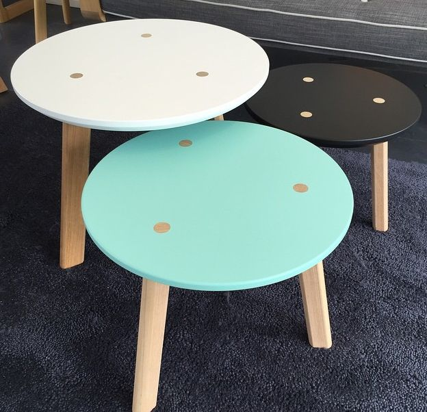 Just white and black - 3 tables
