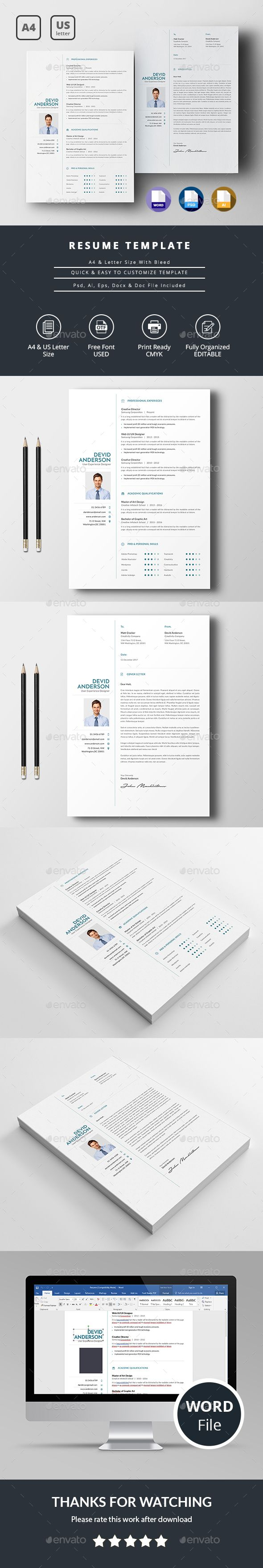 Simple Resume #clean #resume templates  • Download here → https://graphicriver.net/item/simple-resume/19899078?ref=pxcr