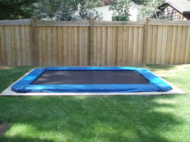 The 25+ best In ground trampoline ideas on Pinterest