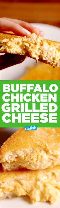 Buffalo Chicken Grilled Cheese is the adult version of your favorite sandwich. Get the recipe from Delish.com.