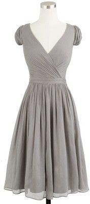 Warm gray dress. So pretty!
