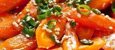 Жаренная морковь с кунжутом