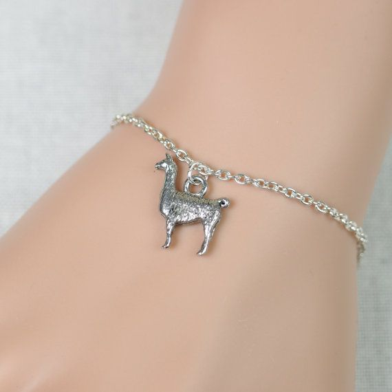 Llama bracelet llama breeder gift silver llama by vespestudio