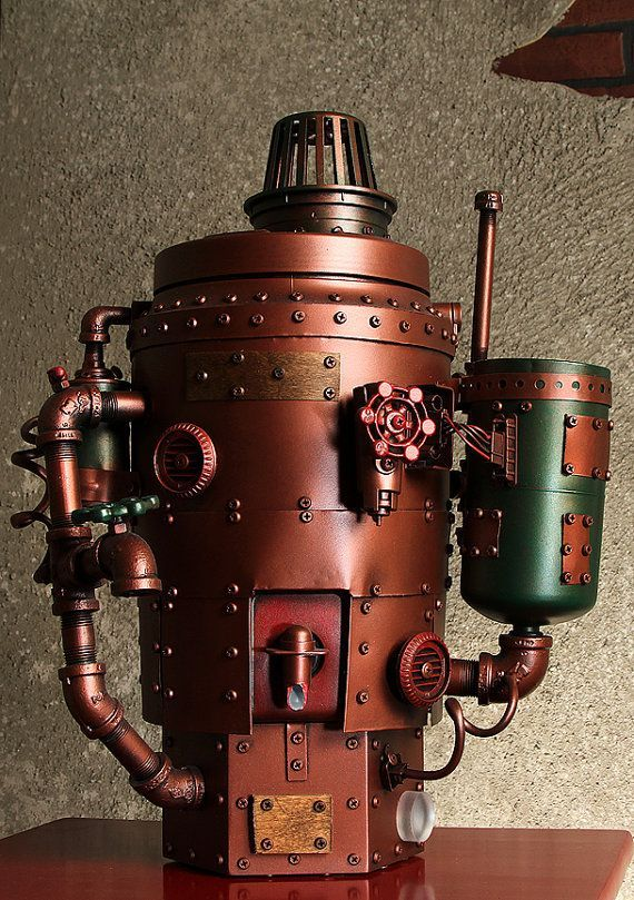 Cold beverage dispenser. Yes, beer could be flowing out of this one! - Follow Us:http://steampunkclothingace.tumblr.com