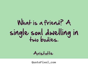 """What is a friend? A single soul dwelling in two bodies."" ― Aristotle  (or 12 souls)"
