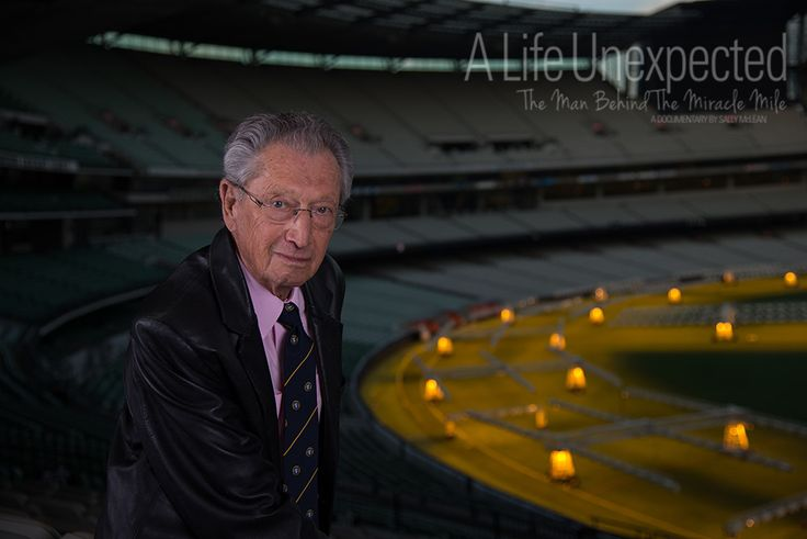 Alf Lazer AM after his interview at the MCG. Photo by Stefano Ferro.