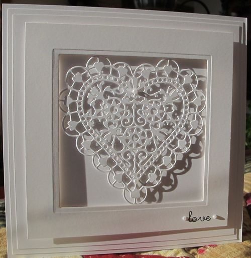 Love Heart+ - could copy this idea with my tattered lace heart die