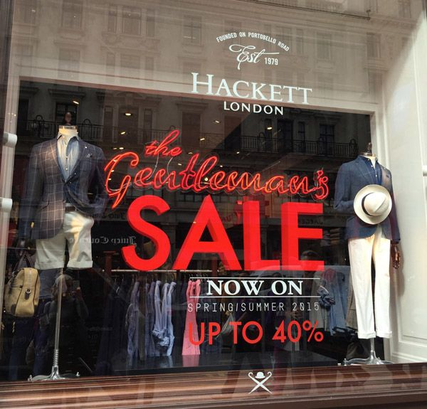 Hackett London - The Gentleman's Sale - Retail Focus - Retail Interior Design and Visual Merchandising