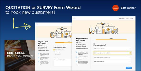 Quote  Quotation Or Survey Form Wizard  Website Themes And Ui Ux