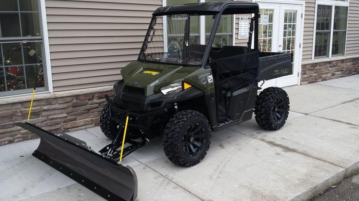 "2015 Polaris Ranger 570 with a 72"" Open Trail KFI Snow Plow, 4500# stealth winch and Sedona big wheel kit."