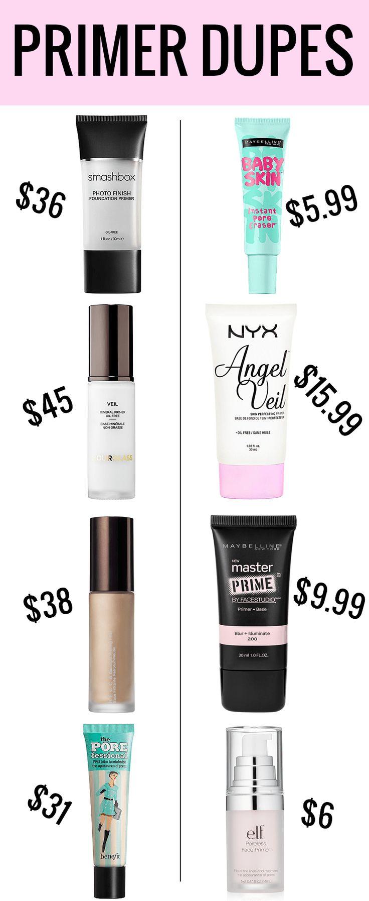 Make-up Primer Dupes Warum kaufen Ende, wenn es so viele erstaunliche Make-up Primer Dup …  – makeup