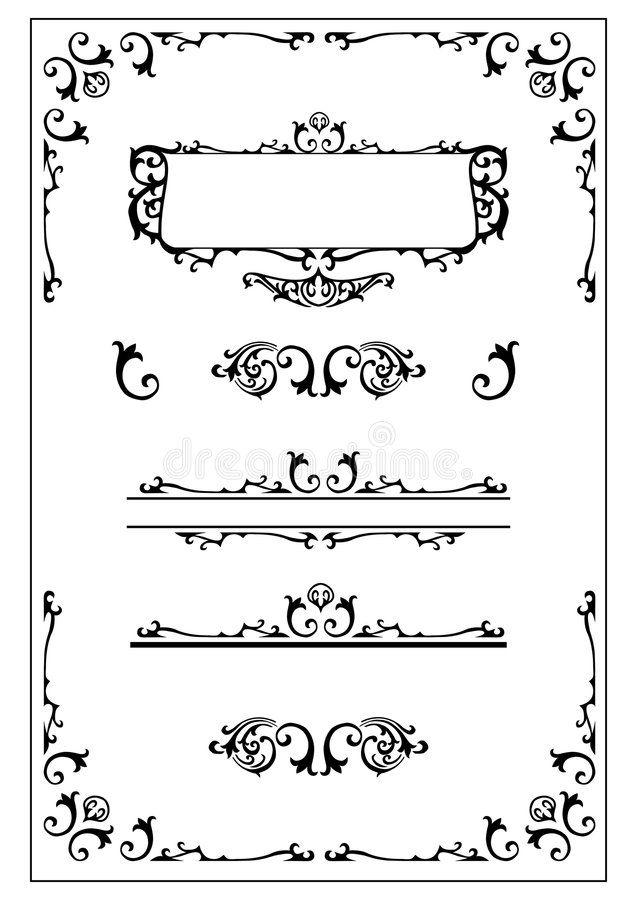Victorian Ornate Design Elemen Victorian Decorative Design