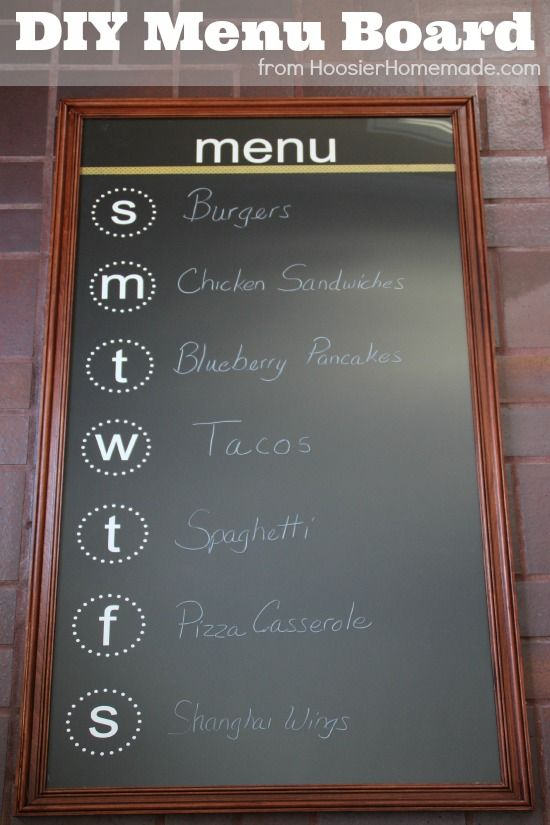 What's for dinner? Make an easy DIY chalkboard menu board for your family with this easy tutorial. | supplies @ joann.com