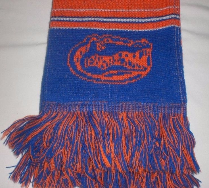 University of Florida Gators SCARF Reversible Logo Football NCAA College Blue  #ForeverCollectibles #FloridaGators