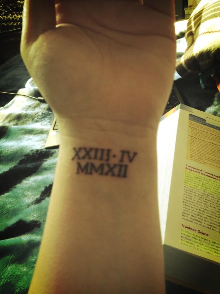 Roman Numeral Tattoos Designs, Ideas and ... - Tattoos For You