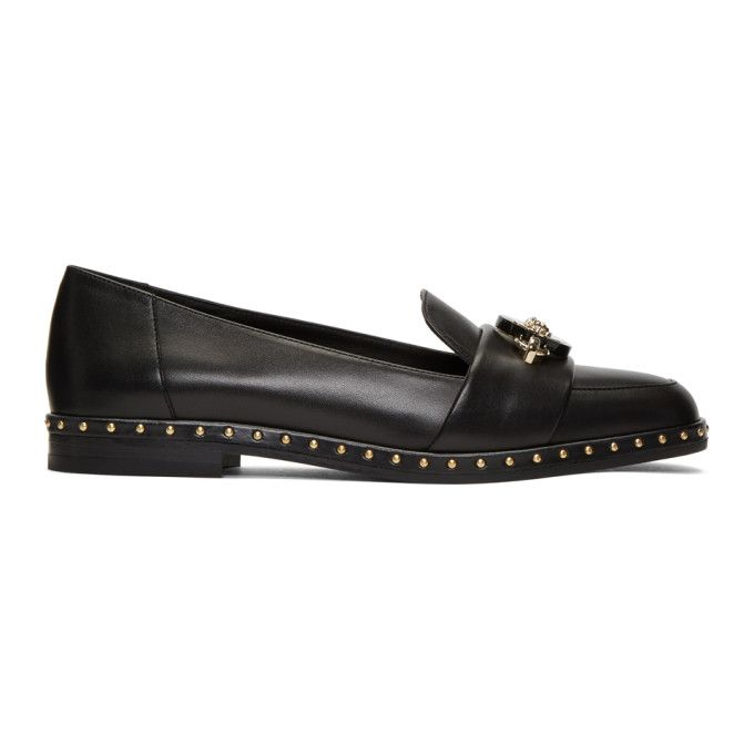 VERSACE | Black Studded Loafers #Shoes #Slippers & loafers #VERSACE