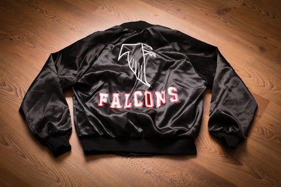 Vintage 90s Atlanta Falcons Logo Jacket, Locker Line, Retro NFL Apparel