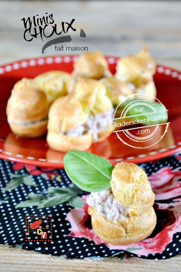 Minis choux - Recette fait maison minis choux aux rillettes de thon sur kaderickenkuizinn.com