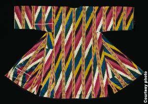 Цветастый полосатый халат (предоставлено Текстильным музеем)