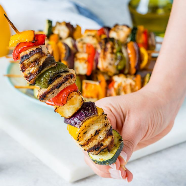 These Grilled Chicken + Veggie Kabobs Make Summertime Clean Eating Complete! - Clean Food Crush
