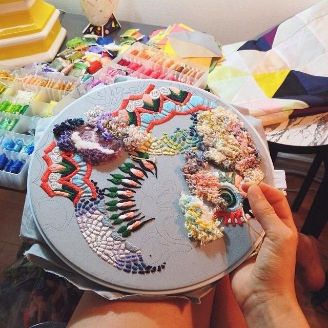 Lorena Marañón #embroidery #adelineloves #adelineinspiration