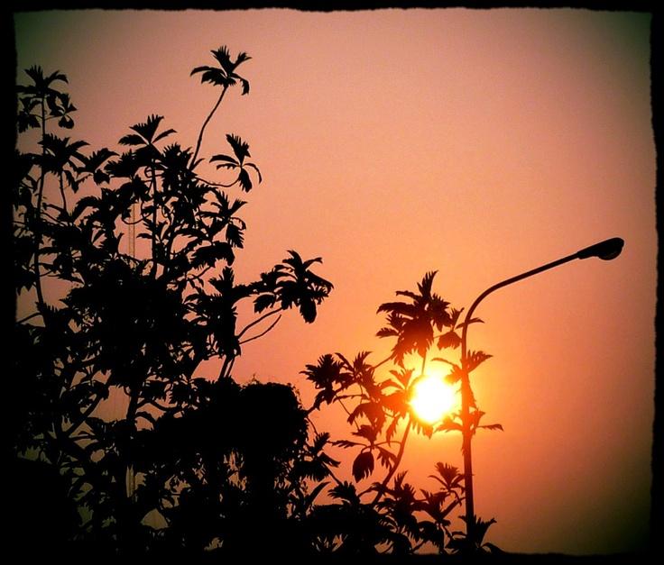 Sunset near home - Cibulan Home March 2012