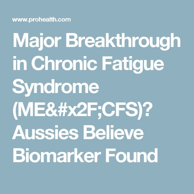 Major Breakthrough in Chronic Fatigue Syndrome (ME/CFS)? Aussies Believe Biomarker Found