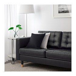 IKEA - LANDSKRONA, 3er-Sofa und Récamiere, Grann/Bomstad schwarz, Holz, , Inklusive 10 Jahre Garantie. Mehr darüber in der Garantiebroschüre.