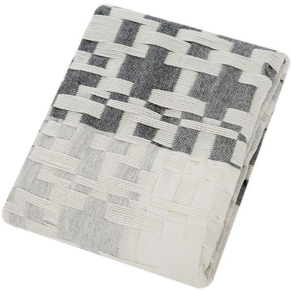 Donna Wilson Pennan Woven Throw/Blanket - Black/White ($461) ❤ liked on Polyvore featuring home, bed & bath, bedding, blankets, woven blankets, hand woven blanket, hand woven throw, black white bedding and checkered blanket