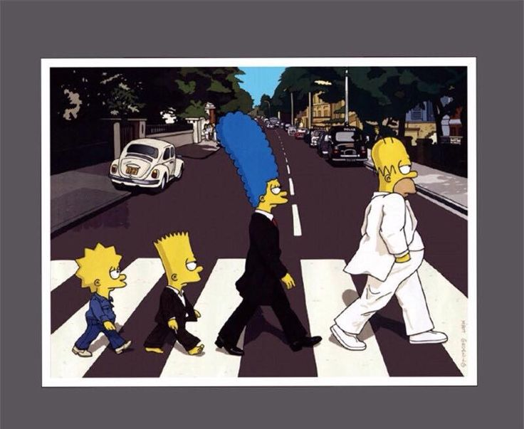 Abbey Road Simpsons