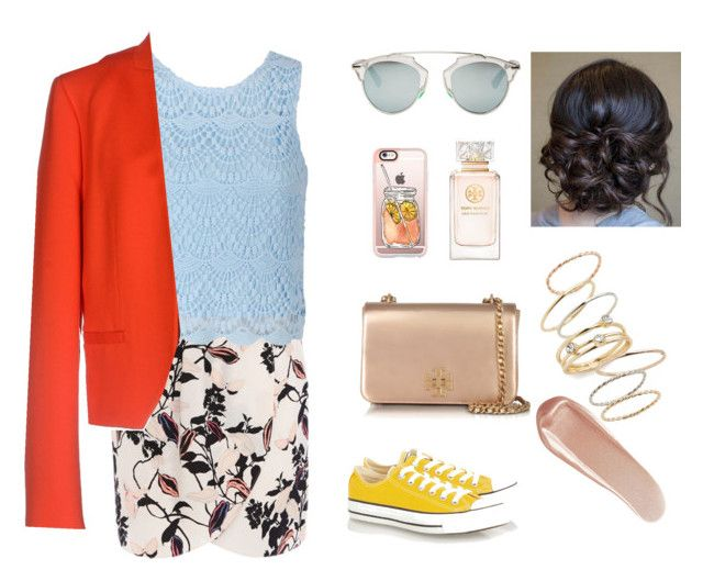 """""""O tênis amarelo"""" by jaquemel ❤ liked on Polyvore featuring Ally Fashion, Sonia Rykiel, Converse, Casetify, Tory Burch, Christian Dior, NARS Cosmetics and BP."""