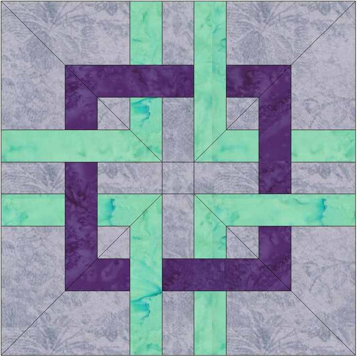 Celtic Knots Chain Paper Template 12 x 12 inch Quilting Block Pattern PDF by HumburgCreations on Etsy