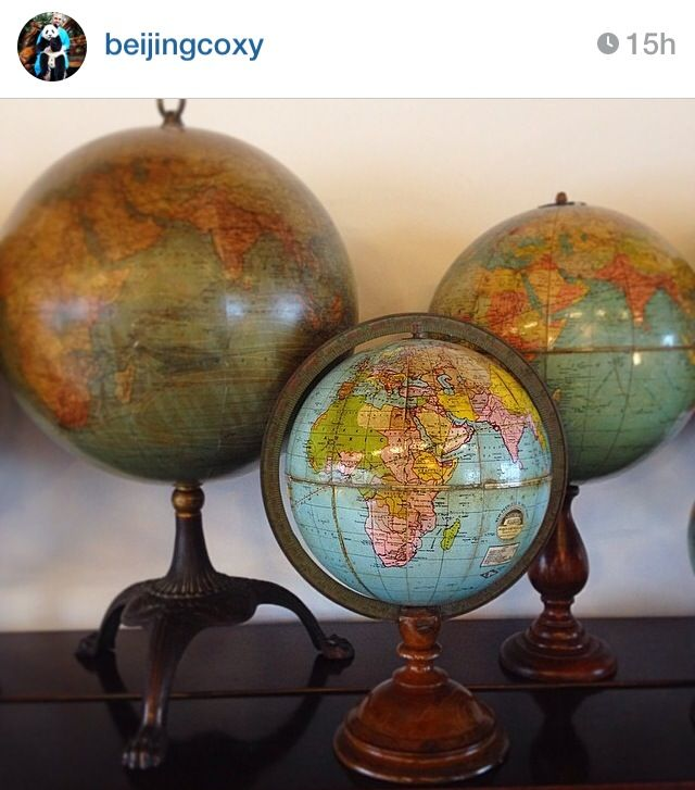 Globe collection : Bellerby & Co Globemakers #vintage #antique #world