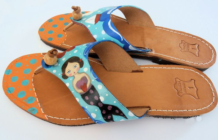 Summer leather sandals!