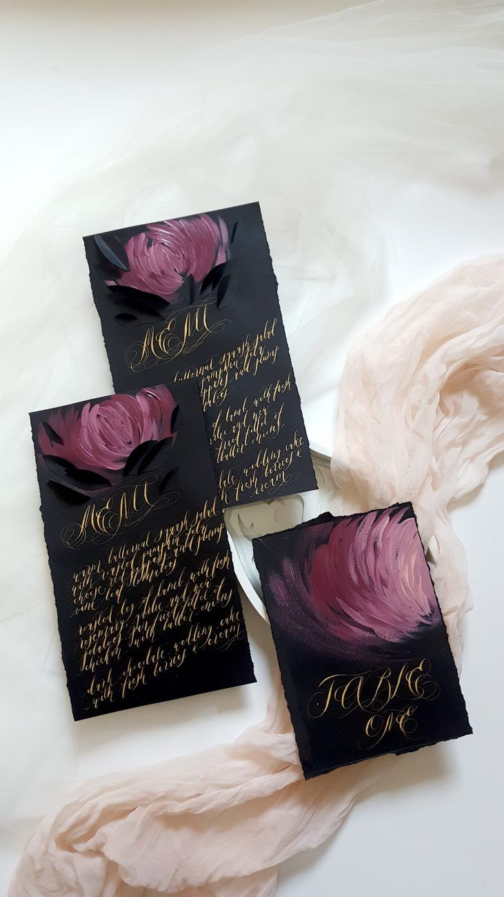 Luxury Hand Painted Wedding Invitations
