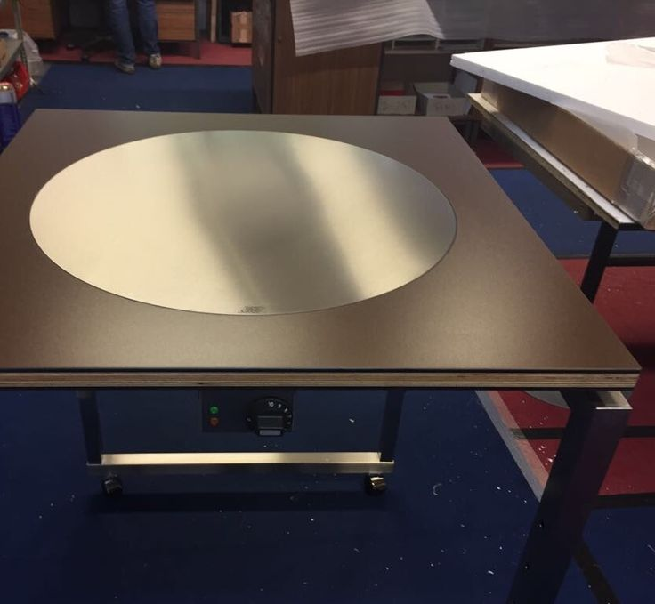 #whatsgoingon #behindthescenes the scenes at the Cook-N-Dine manufacturer? Just some custom carts being built with the built-in round teppanyaki.