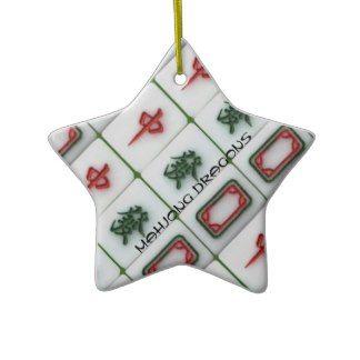 Mahjong Dragons Christmas Tree Ornament